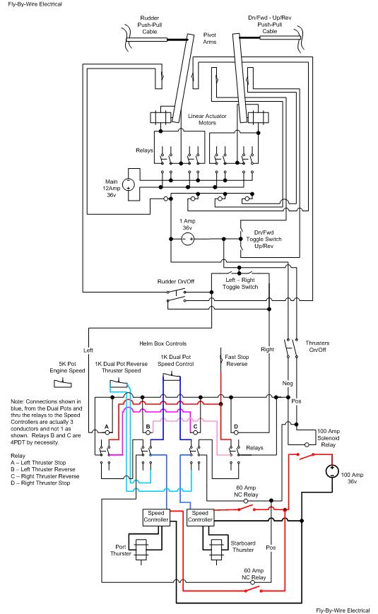 Fly By Wire_Electrical thrusters 12 Volt Trolling Motor Wiring Diagram at nearapp.co