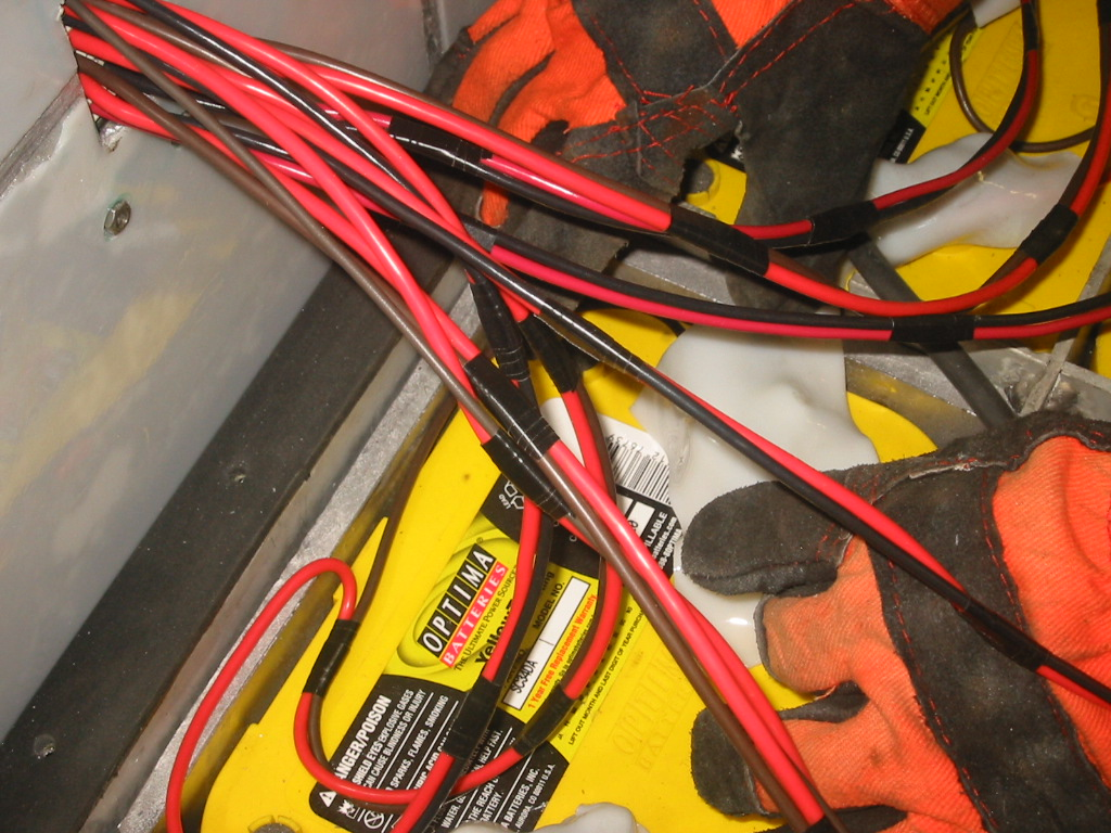 Battery And Charger Minn Kota Wiring Diagram 36 Volts 9 The Hot Plastic Is Then Wrapped Over A Terminal Allowed To Cool Edges Can Be Trimmed With Box Knife Make It Look Pretty